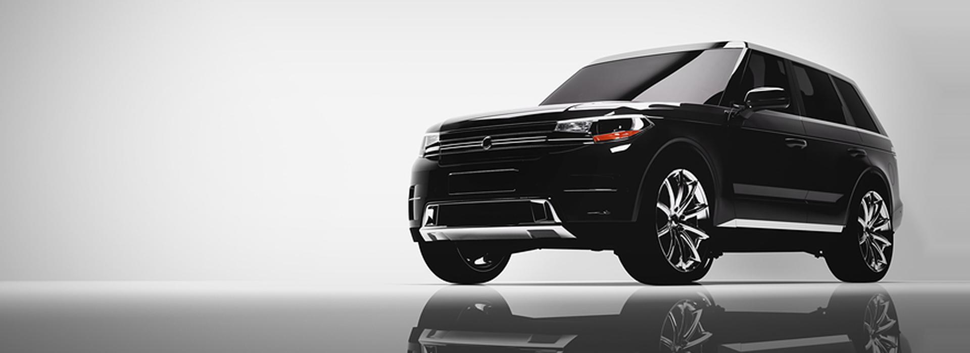 Black luxury SUV