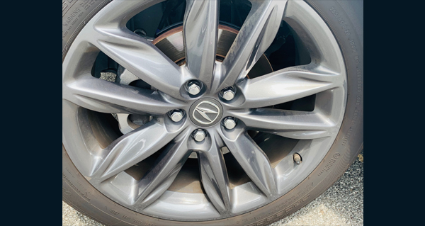 Tire rim after restoration picture